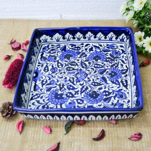 Ceramics Serina Blue Square Dish