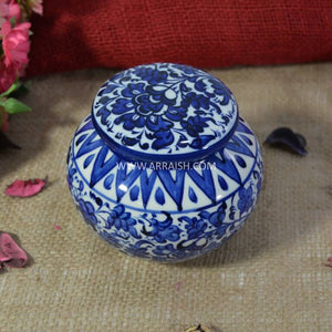 Serina Blue Storage Jar