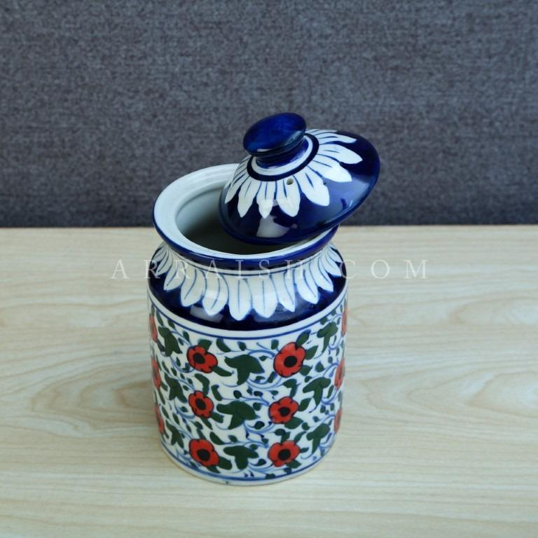 Ceramics Small Red Flower Jar