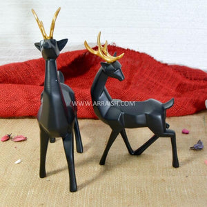 Pair of Black Deers - Table Decoration