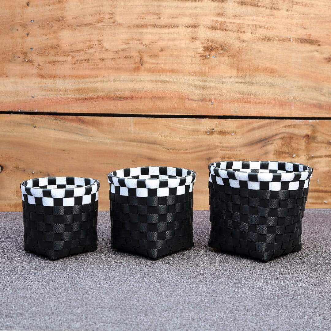 Decor Black Round Basket - Set of 3