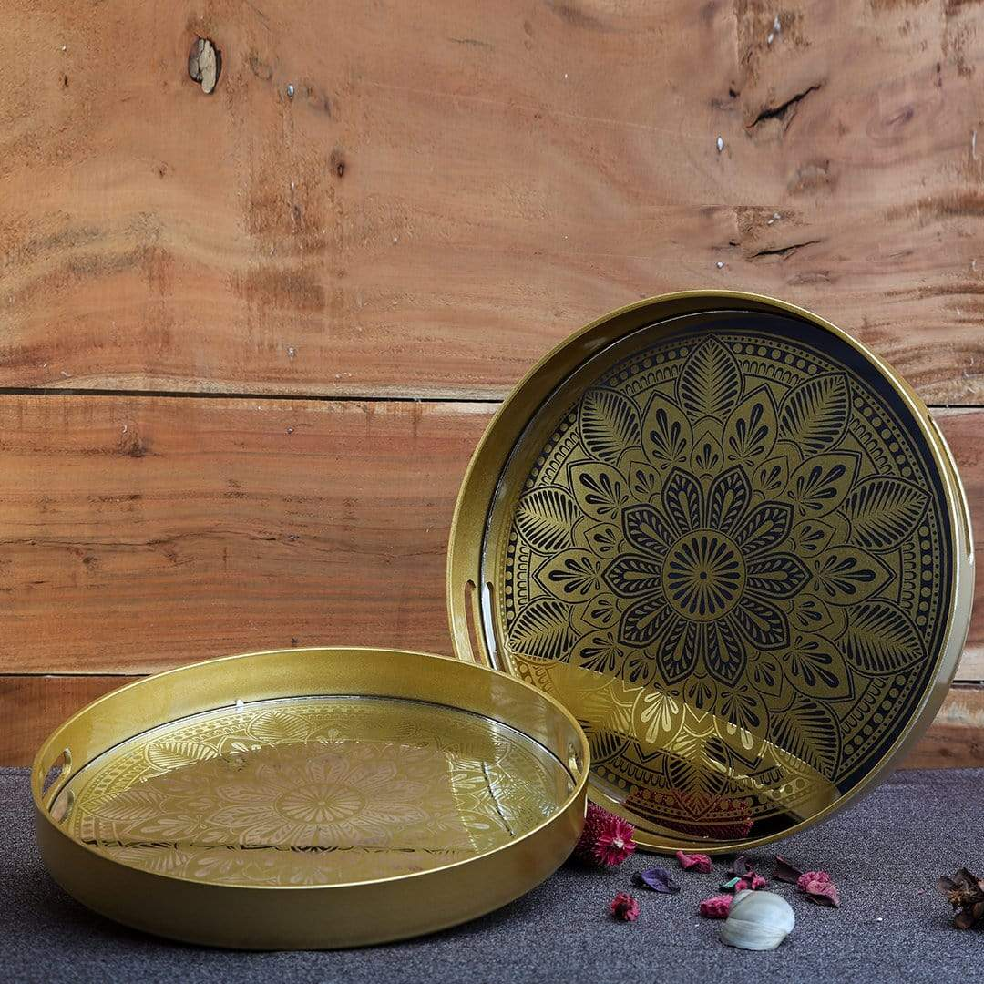 Decor Golden Serving Tray