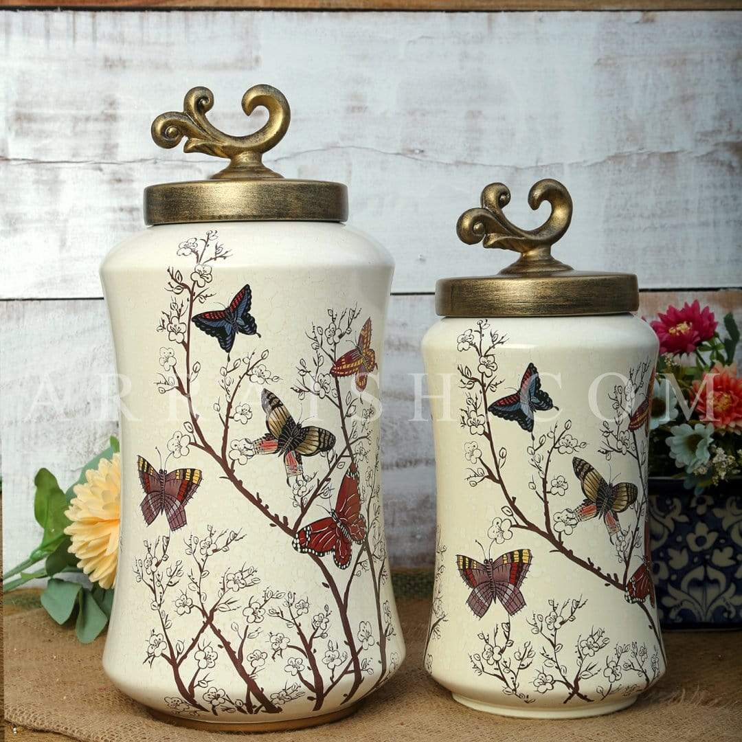 Jars Butterfly Jars - Set of 2 - Table Decoration
