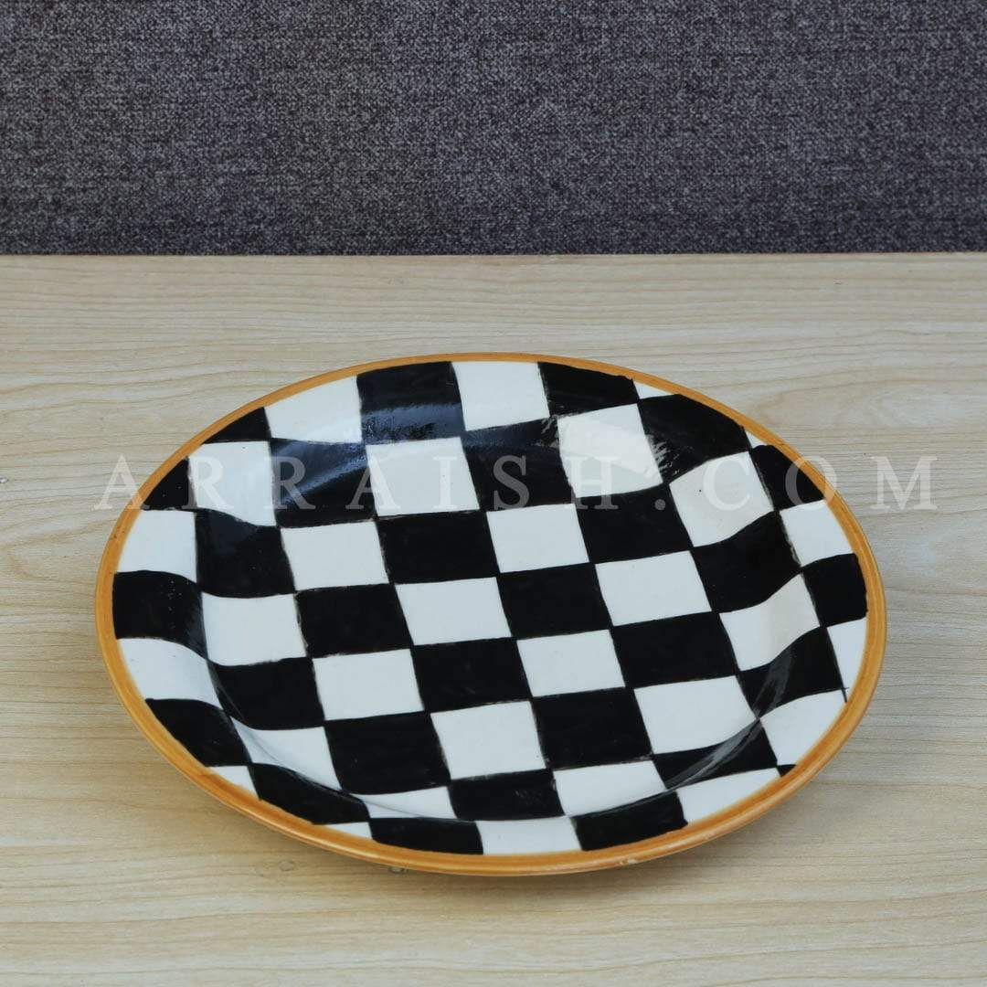 Plates & Platters Black and White Quarter Plate