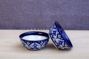 Plates & Platters Blue Felicity Dessert Bowl- Set of 2