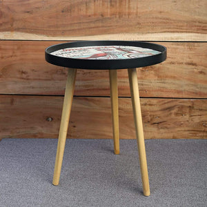 Table Modern Small Round Coffee Table - Motorcycle