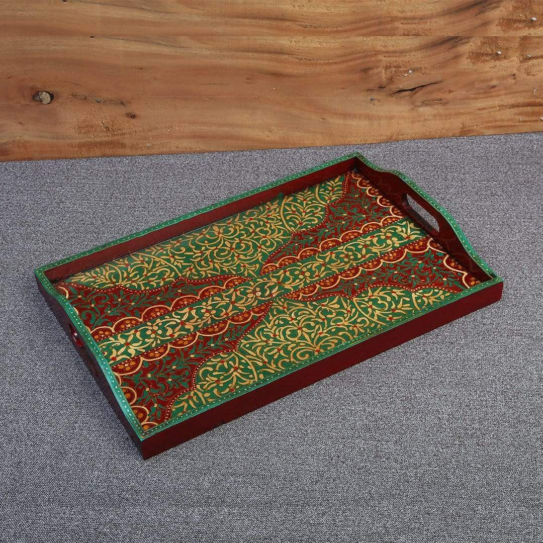 Wood Swat Art Serving Tray XIX