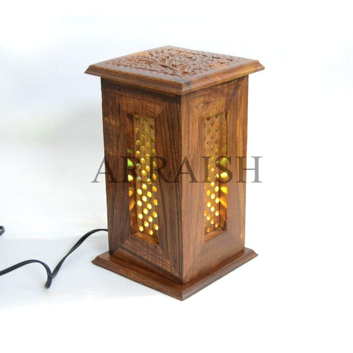 Wood Wooden Table Lamp