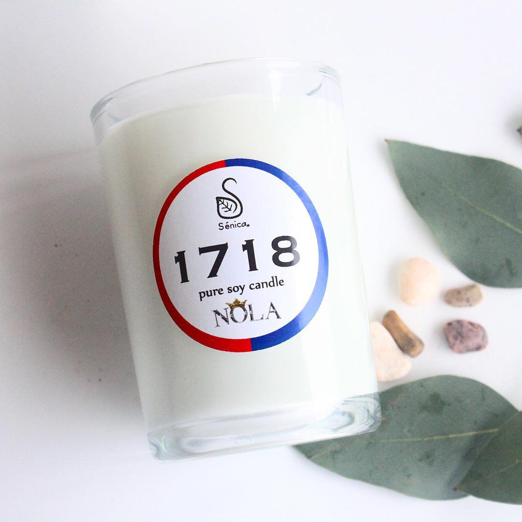 1718 Aromatherapy Soy Candle - Sénica skin care moisturize dry, sensitive and eczema, prone skin.