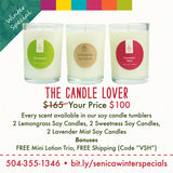 The Candle Lover - Sénica skin care moisturize dry, sensitive and eczema, prone skin.