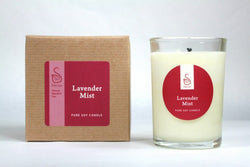 Lavender Mist Soy Candle - Sénica skin care moisturize dry, sensitive and eczema, prone skin.