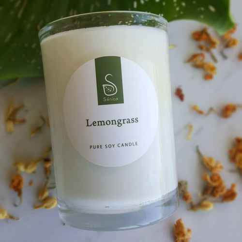Lemongrass Soy Candle - Sénica skin care moisturize dry, sensitive and eczema, prone skin.