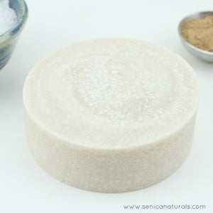 Rhassoul Clay Sea Salt Soap Bar - Sénica skin care moisturize dry, sensitive and eczema, prone skin.