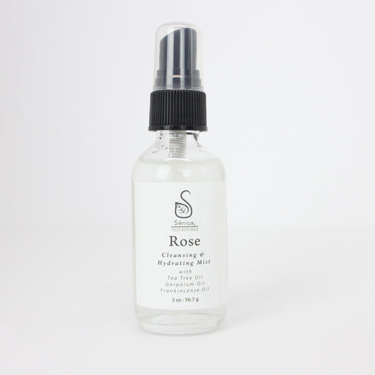 Rose Cleansing & Hydrating Mist - Sénica Test Kitchen - Sénica skin care moisturize dry, sensitive and eczema, prone skin.