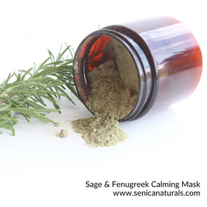 Sage & Fenugreek Calming Mask - Sénica Test Kitchen - Sénica skin care moisturize dry, sensitive and eczema, prone skin.
