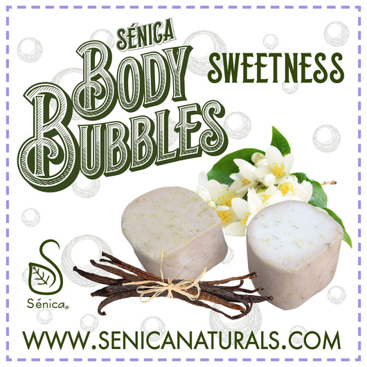 Sweetness Body Bubbles - Sénica skin care moisturize dry, sensitive and eczema, prone skin.