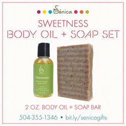 Sweetness Body Oil  & Soap Set