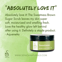 Load image into Gallery viewer, Sweetness Brown Sugar Scrub - Sénica skin care moisturize dry, sensitive and eczema, prone skin.