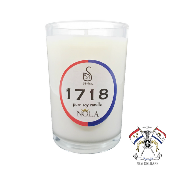 1718 Tricentennial Aromatherapy Soy Candle - Sénica skin care moisturize dry, sensitive and eczema, prone skin.