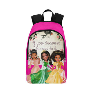 If You Can Dream It Princess Backpack - Personalized Princess Backpack - Back to School Bag -Kids Rucksack - Little Girls Backpack, Pink