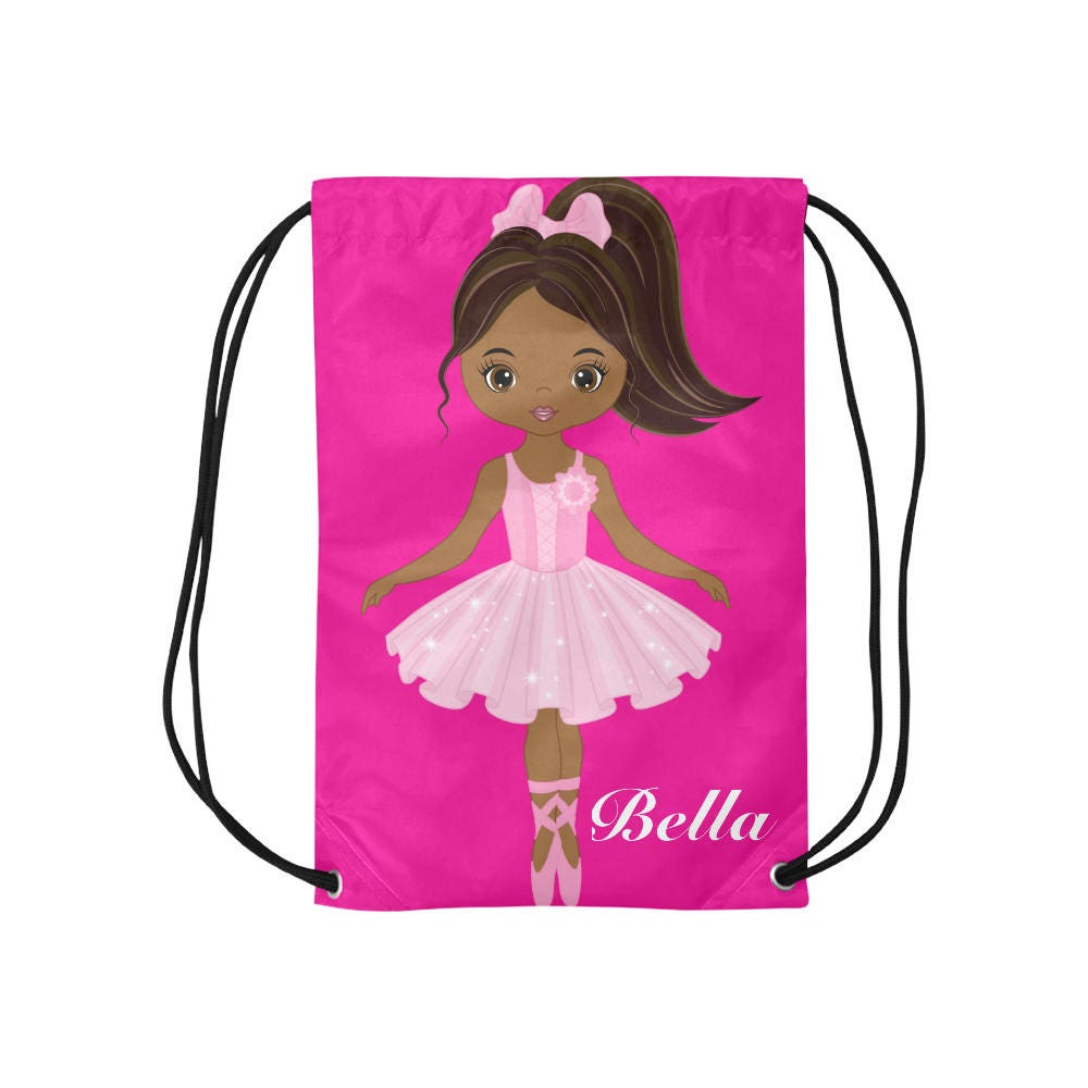 Personalized Drawstring Backpack - Girls dance bag- Ballerina Backpack for Girls - Ballet Dance Bag - Ballet Cinch Sack - Ballet Shoe Bag