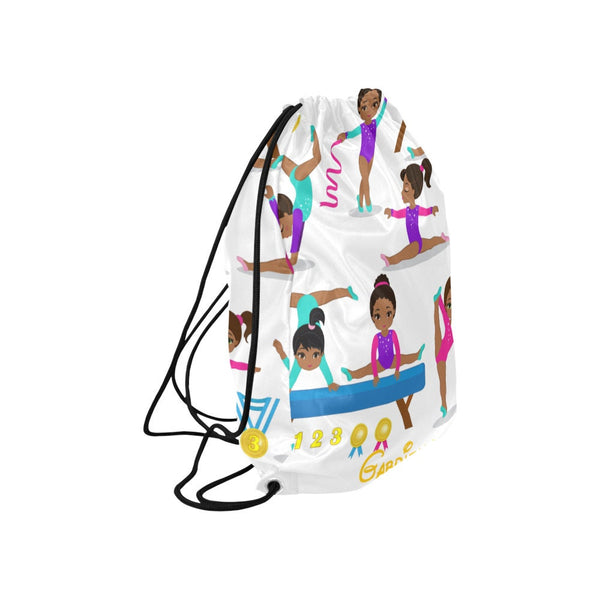GYMNASTIC  BALLET BAG personalised / personalized gym bag / school bag / drawstring backpack /Gymnast Personalized Drawstring Backpack
