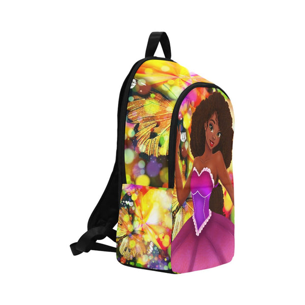 Brown Girl  Princess Custom Backpack