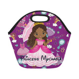 Lunch Tote, Lunch Bag, Kids Lunch Bag, Personalized Kids Lunch box,  Monogram Lunch box,  Lunch bag, Girls, Purple,Princess, Kids Lunch Bag