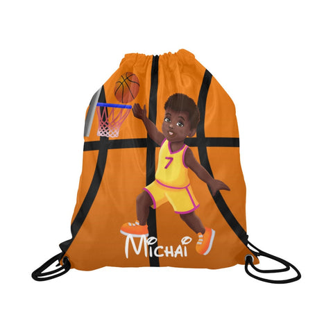 Boys Basketball Drawstring Backpack
