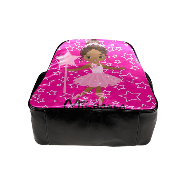 Black Girl Ballet Dance Backpack