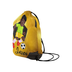 Personalized Drawstring Backpack - Soccer Backpack - Soccer Sports Bag - Personalized Kids Drawstring Bag - Boys Soccer Backpack