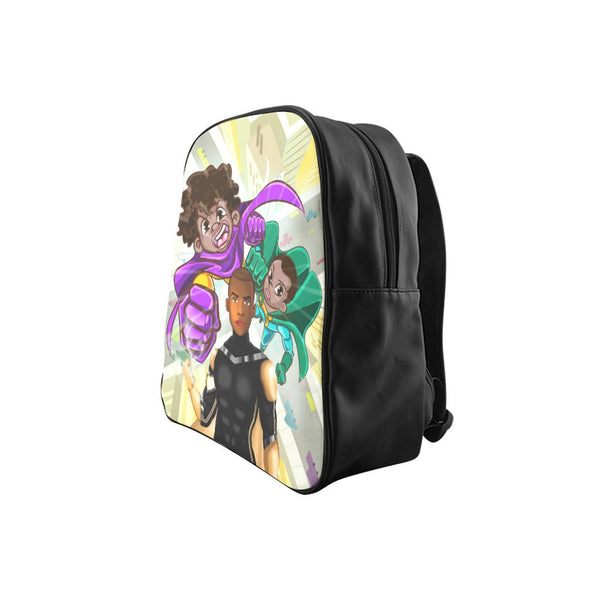 Small backpack-child backpack-backpack-toddler backpack-superhero backpack-Black boy backpack-monogrammed backpack-personalized backpack