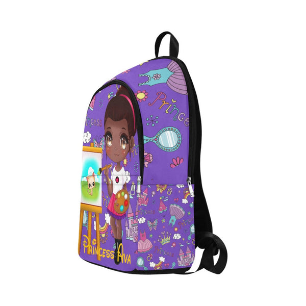 Girl Backpacks For School, Custom Name Backpack, Personalized Back to School Bookbag, Monogram Brown Black Girl,African American School Bag