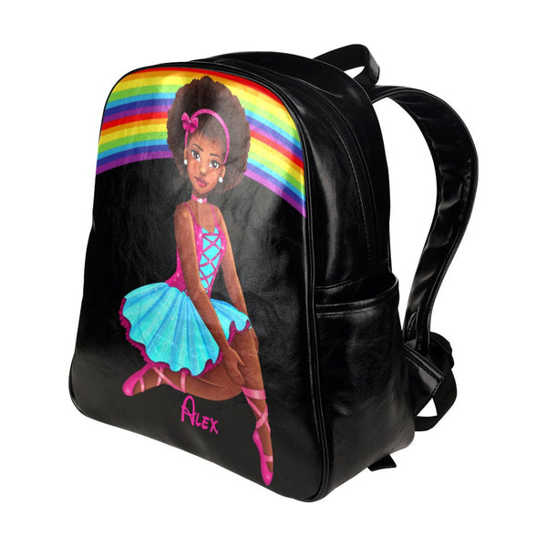 Ballerina Back To School Book Bag Backpack For Girls