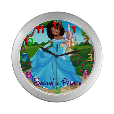 Kids Clock, Wall Clock,Princess Clock, Mermaid Clock,Girls Clock,Girls Gift, African American, Clocks For Girls,Personalized Clock