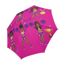 Umbrella, Little Girl's Cheer Umbrella,African American Girl