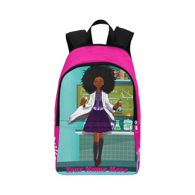 Backpack, African American Backpack, Bag- School, Personalized, Natural Hair, Black Owned, Black Girl Magic Melanin,Black Girl  BROWNKIDSWAG