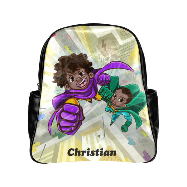 Personalized toddler backpacks, Superhero backpack, boys backpack, personalized backpack, boys backpack, African American,Brown,Black Boy