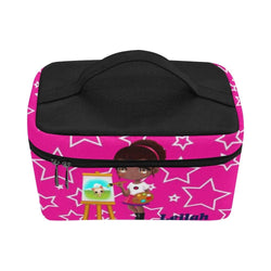 African American Little Girl Artist  Lunchbox