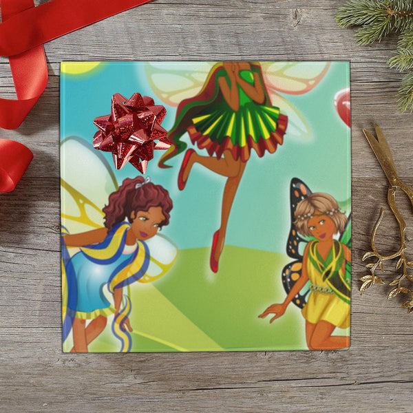 "Black Girl Fairies Gift Wrapping Paper 58""x 23"" (2 Rolls)"