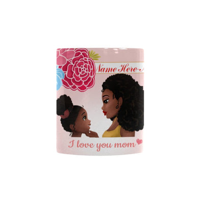 African American Mother Daughter Personalized Coffee Mug