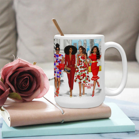Delta Sigma Theta Sorority Coffee Cup