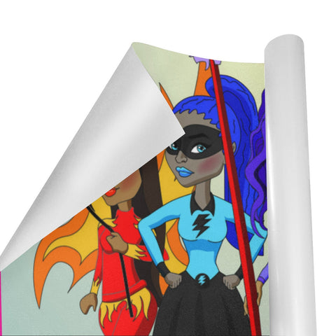 "Black Girl Wrapping Paper - Gift Wrap-Size: 58"" x 23"" x 2 rolls"