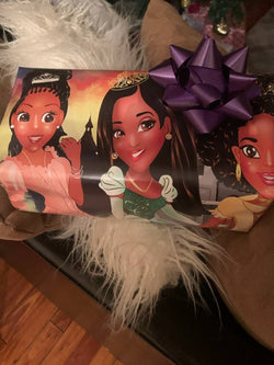 African American Princess Gift Wrapping Paper  (2 Rolls)