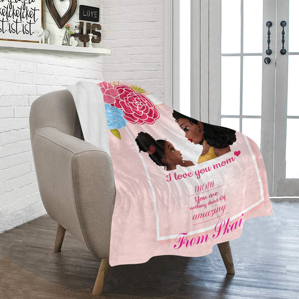 PERSONALIZED MOTHER DAUGHTER THROW BLANKET