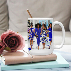 ZETA Phi BETA Sorority Gifts -Personalized ZPB Coffee Cup Mug 15 Oz BrownKidSwagcom