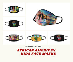 Little Girl Mask Black Girl Face Mask Face Mouth Masks Washable African American Masks Reusable Toddler Children Kids Mouth Face Mask