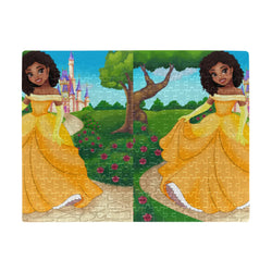 Jigsaw Puzzle For Kids African American Girls Kids Game  (Set of 252 Pieces) Princess Collection Kids Gift Jig Saw Board Game