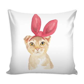 Bunny Cat Pillow Case