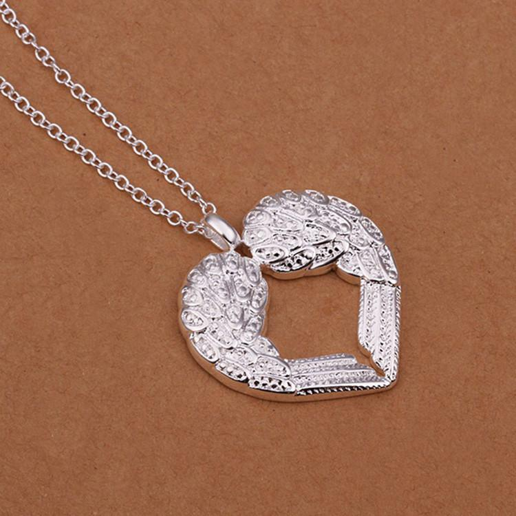 Angel Wings Heart Pendant Necklace - Giftolution